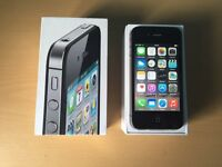 Boxed Apple Iphone 4S 16gb in Black Fully Working In Perfect Cond on Vodafone Maybe unlocked Not 4S