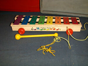 FISHER PRICE PULL TOY-NO. 870-1964/1978 MODEL-XYLOPHONE-UNIQUE