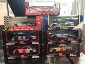 7 NASCAR 1:24 Die-Cast Stock Car Replicas - ALL still in boxes