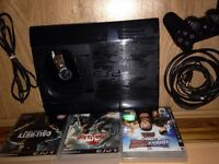PS3 super slim,500gb one controla, 3 games excellent condition, fully working £80