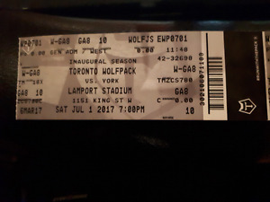 Free Pair Toronto Wolfpack Rugby Tickets