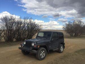 2002 jeep tj 2.5l low km