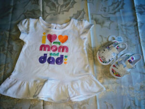 brand New 3-6Mth i love Mom&Dad and Sandal