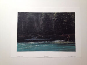 """Artist Proof Limited Edition print Mort Solberg """"The Log Cast"""""""