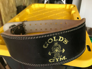 GOLD'S GYM WEIGHT LIFTING STRENGTH TRAINING BELT MEDIUM
