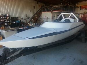 Eagle tunnel hull aluminum river boat with berkley pump +New ZZ4