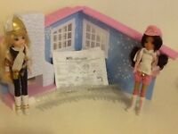 Moxie girls dolls and the winter lodge chalet