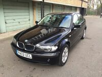 BMW 316I 1.8, 2002, 74k WARRANTED MILEAGE, 2 FORMER KEEPERS