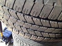 Set of 4 Goodyear 275/55/20 all season tires