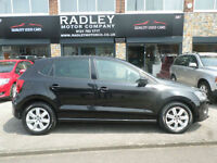 2012 Volkswagen Polo 1.2 60ps Match 5DR 62 REG Petrol Black