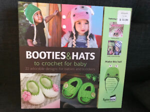 Baby handprint craft w saying + hats booties knitting craft