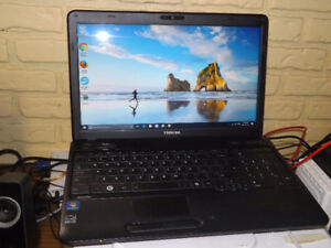 "Used Toshiba Satellite C650 15"" i3 2.27GHz Win10 Laptop"