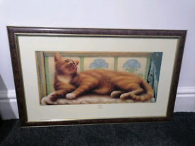 Cat frame painting
