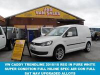 2015 15 VOLKSWAGEN CADDY TRENDLINE C20 2015/15 REG 1 OWNER FROM NEW ONLY 14000 M