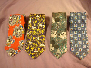 4 Novelty Ties - 3 Micky Mouse & 101 Dalmatian Neck Ties Peterborough Peterborough Area image 1