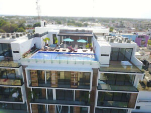 Brand new 2 bed 2 bath luxury suite in playa del carmen, Mexico.