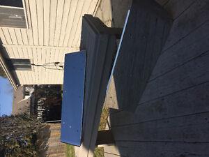 Stainless steel sun visor for Peterbilt