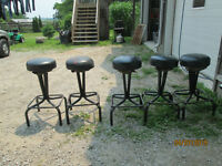 5 STEEL CHAIRS