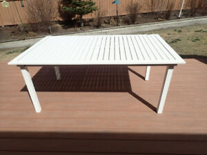 Free White Metal Patio Table - U Pick Up