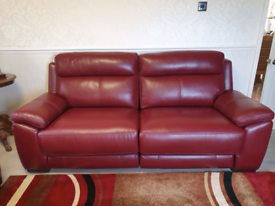 BRAND NEW 2 SEATER & 3 SEATER LEATHER RECLINERS SOFAS OPEN 2 OFFERS