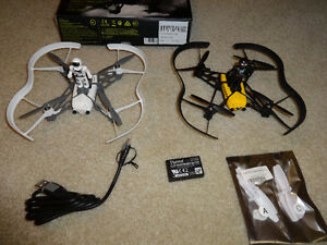 2 X RC PARROT CARGO DRONES TRAVIS & MARS AND FLY PAD CONTROLLER