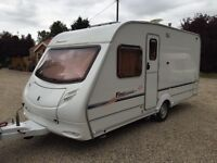 2007 SPRITE FIREBRAND 474 4 BERTH TOURING CARAVAN WITH FULL AWNING AND MOTOR MOVER AND EXTRAS