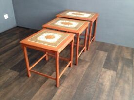 Danish Teak Nest of Tables.