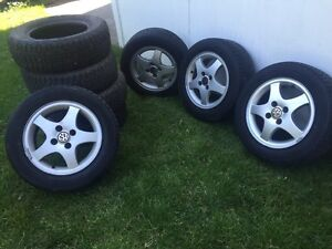 VW Rims with Summer & Winter Tires