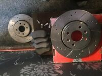 Renault. Megane. 1.9dci front drilled and grooved 280mm x24mm (4stud