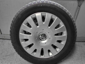 Volkswagen Winter Wheels with Continental Snow Tires, 205/55/16""