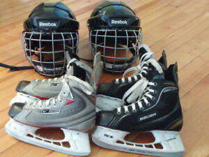 Patins et casques hockey