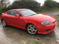 Hyundai Coupe SE 2 litre 06, facelift version, Leather seats in red, low miles, sunroof