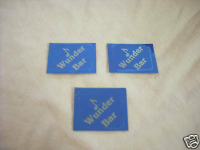 Wunder Bar Gun Stickers Set Of 3 Blue Silver 1 X 34