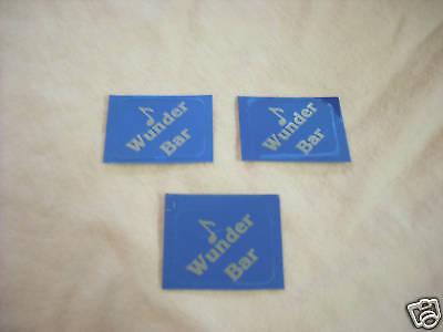 Wunder Bar Gun Stickers Set Of 3 Blue Silver 1 X 34