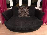 DFS black corner sofa and cuddle chair REDUCED