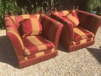 2 X matching vintage armchairs £20 FOR BOTH. CAN DELIVER 2 U !!