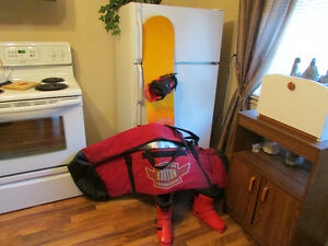 Burton board with case and boots