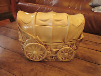 Antique Très Belle Jar à Biscuit McCoy Wagon