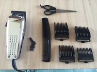 Hair clipper set in case - great condition