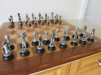 Bombay Company Pewter Golf Chess Set and Board