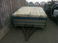 Tent trailer or make into a utility  $ 175 firm