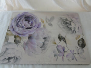 Place mat set with cork backing