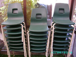 """sold""  STACKING CHAIRS"
