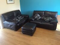 Brown Leather Suite (Quick sale)
