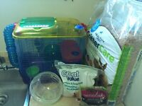 Hamster cage and essentials OBO