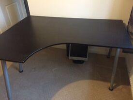 Ikea Galant office desk in walnut brown