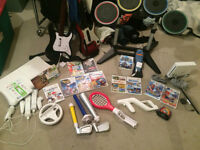 NINTENDO WII + GAMES AND ACCESSORIES