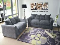 jumbo cord sofa set 3 & 2 comfortable & stylish in grey or black furniture corner also available