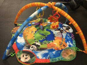 Activity gym and play mat for infants
