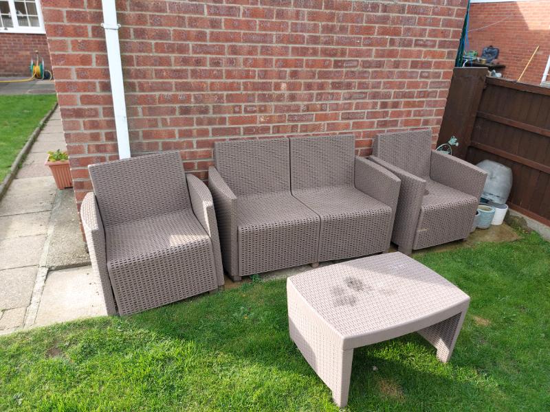 Plastic Rattan Garden Furniture SOLD | in Waddington ...